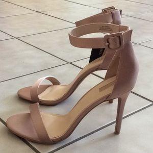 Light pink one strap heels (BRAND NEW)